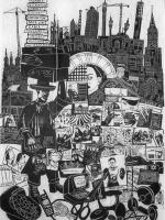 Whitechapel Linocut