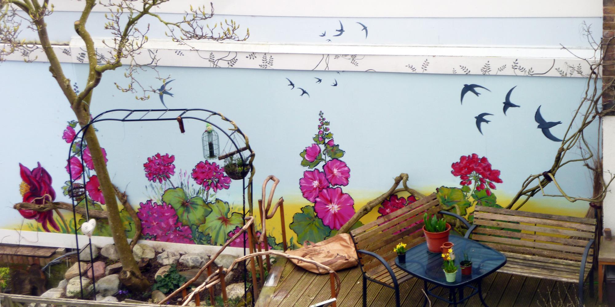 Flowering Garden Mural